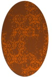 rug #1094614   oval red-orange faded rug