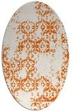 rug #1094618   oval red-orange traditional rug
