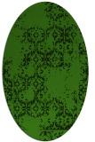 rug #1094622 | oval light-green damask rug