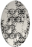 rug #1094626 | oval white traditional rug