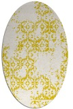 rug #1094630 | oval white damask rug