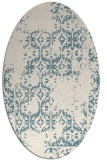 rug #1094646 | oval white faded rug