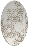 rug #1094650 | oval white traditional rug