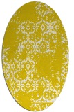 rug #1094662 | oval white faded rug