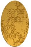 rug #1094666 | oval yellow faded rug
