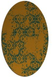 rug #1094669 | oval faded rug