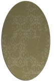 rug #1094678 | oval light-green damask rug