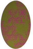 rug #1094682 | oval light-green rug