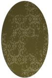 rug #1094686 | oval light-green popular rug
