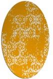 rug #1094690 | oval light-orange damask rug