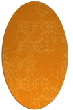 rug #1094698 | oval light-orange damask rug