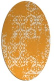 rug #1094702 | oval white traditional rug