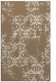 rug #1094862 |  mid-brown damask rug