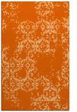 rug #1094978 |  red-orange damask rug
