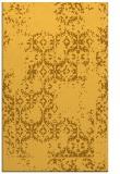 rug #1095034 |  yellow damask rug