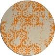 rug #1095074 | round orange traditional rug