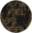 rug #1095102 | round brown damask rug