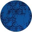 rug #1095106   round blue damask rug