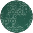 rug #1095130 | round blue-green traditional rug