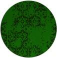 rug #1095134 | round green damask rug