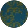 rug #1095154 | round green damask rug