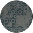 rug #1095206 | round blue-green faded rug
