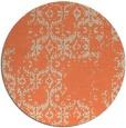 rug #1095286   round orange faded rug