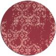 rug #1095302 | round pink damask rug