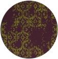 rug #1095314 | round green damask rug