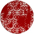 rug #1095326 | round red damask rug