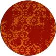 rug #1095330   round red damask rug