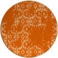 rug #1095346 | round red-orange damask rug