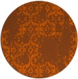 rug #1095350 | round red-orange damask rug