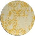 rug #1095390   round yellow damask rug