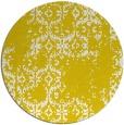 rug #1095398 | round yellow damask rug