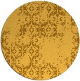 rug #1095402 | round light-orange damask rug