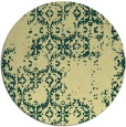 rug #1095406 | round blue-green faded rug