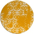 rug #1095426 | round light-orange faded rug