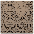 rug #1095822 | square black damask rug