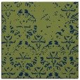 rug #1095854 | square blue damask rug