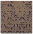 rug #1095918 | square blue-violet damask rug