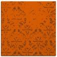 rug #1096086   square red-orange damask rug