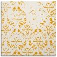 rug #1096162 | square light-orange damask rug