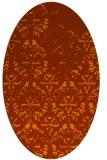 rug #1096181 | oval damask rug
