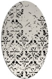 rug #1096182 | oval white faded rug