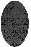 rug #1096186 | oval black traditional rug