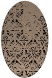 rug #1096190 | oval beige damask rug