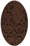 rug #1096194 | oval brown damask rug