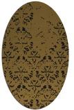 rug #1096198 | oval mid-brown faded rug