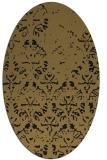rug #1096206 | oval brown damask rug